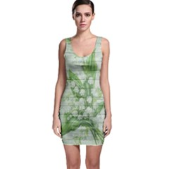 On Wood May Lily Of The Valley Sleeveless Bodycon Dress