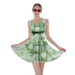 On Wood May Lily Of The Valley Skater Dress