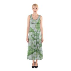 On Wood May Lily Of The Valley Sleeveless Maxi Dress