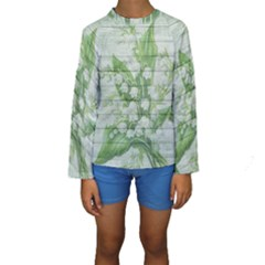 On Wood May Lily Of The Valley Kids  Long Sleeve Swimwear