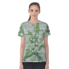 On Wood May Lily Of The Valley Women s Cotton Tee