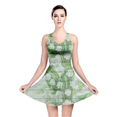 On Wood May Lily Of The Valley Reversible Skater Dress