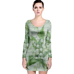 On Wood May Lily Of The Valley Long Sleeve Bodycon Dress