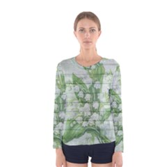 On Wood May Lily Of The Valley Women s Long Sleeve Tee