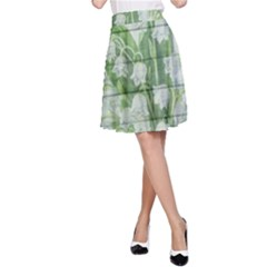 On Wood May Lily Of The Valley A-Line Skirt