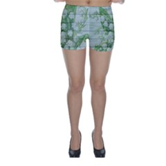 On Wood May Lily Of The Valley Skinny Shorts