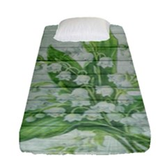On Wood May Lily Of The Valley Fitted Sheet (single Size)