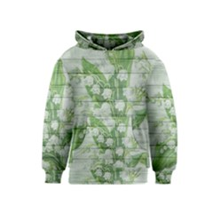 On Wood May Lily Of The Valley Kids  Pullover Hoodie