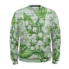 On Wood May Lily Of The Valley Men s Sweatshirt
