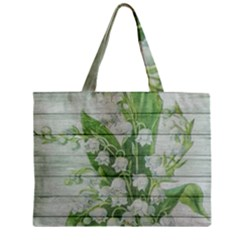 On Wood May Lily Of The Valley Zipper Mini Tote Bag
