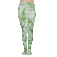 On Wood May Lily Of The Valley Women s Tights