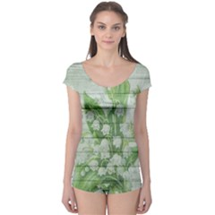 On Wood May Lily Of The Valley Boyleg Leotard