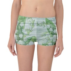 On Wood May Lily Of The Valley Boyleg Bikini Bottoms