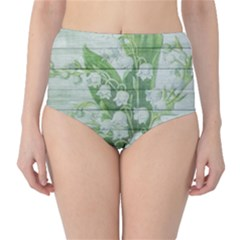 On Wood May Lily Of The Valley High-Waist Bikini Bottoms