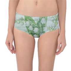 On Wood May Lily Of The Valley Mid Waist Bikini Bottoms