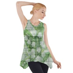 On Wood May Lily Of The Valley Side Drop Tank Tunic