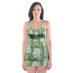 On Wood May Lily Of The Valley Skater Dress Swimsuit