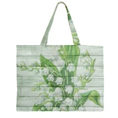 On Wood May Lily Of The Valley Large Tote Bag