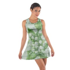 On Wood May Lily Of The Valley Cotton Racerback Dress