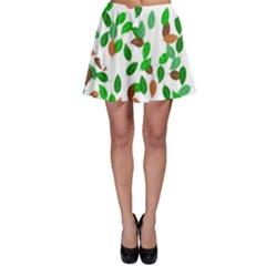 Leaves True Leaves Autumn Green Skater Skirt