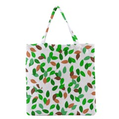 Leaves True Leaves Autumn Green Grocery Tote Bag