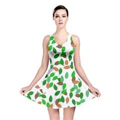 Leaves True Leaves Autumn Green Reversible Skater Dress