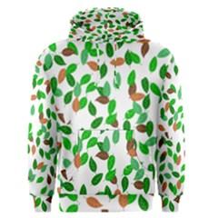Leaves True Leaves Autumn Green Men s Pullover Hoodie