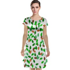 Leaves True Leaves Autumn Green Cap Sleeve Nightdress