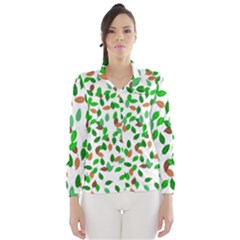 Leaves True Leaves Autumn Green Wind Breaker (Women)