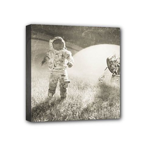 Astronaut Space Travel Space Mini Canvas 4  X 4