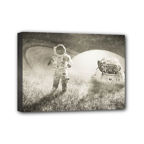 Astronaut Space Travel Space Mini Canvas 7  X 5