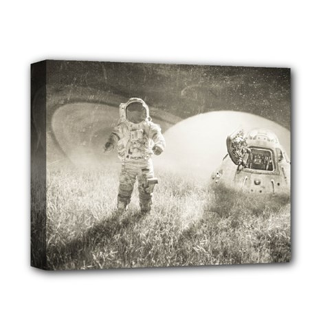 Astronaut Space Travel Space Deluxe Canvas 14  x 11