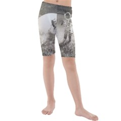 Astronaut Space Travel Space Kids  Mid Length Swim Shorts
