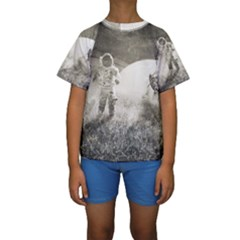 Astronaut Space Travel Space Kids  Short Sleeve Swimwear