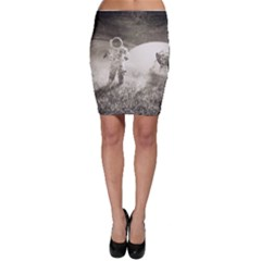 Astronaut Space Travel Space Bodycon Skirt