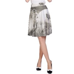Astronaut Space Travel Space A-Line Skirt