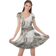 Astronaut Space Travel Space Cap Sleeve Dresses