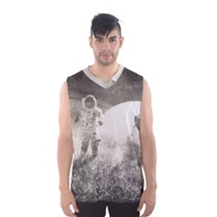 Astronaut Space Travel Space Men s Basketball Tank Top