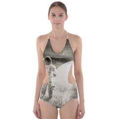 Astronaut Space Travel Space Cut-Out One Piece Swimsuit