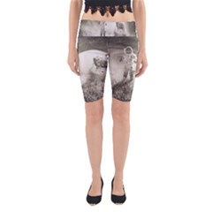 Astronaut Space Travel Space Yoga Cropped Leggings