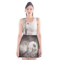 Astronaut Space Travel Space Scoop Neck Skater Dress
