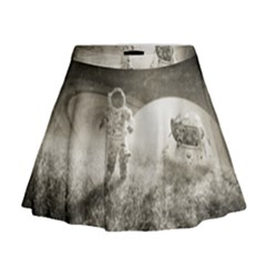 Astronaut Space Travel Space Mini Flare Skirt