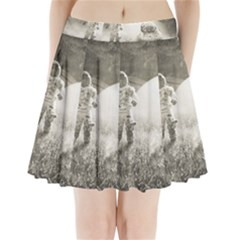 Astronaut Space Travel Space Pleated Mini Skirt