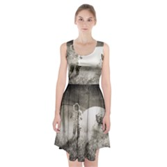 Astronaut Space Travel Space Racerback Midi Dress
