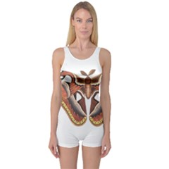 Butterfly Animal Insect Isolated One Piece Boyleg Swimsuit