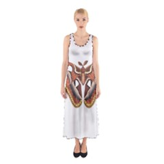 Butterfly Animal Insect Isolated Sleeveless Maxi Dress