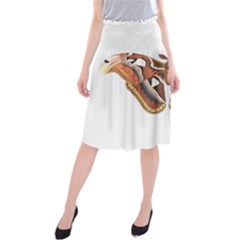 Butterfly Animal Insect Isolated Midi Beach Skirt