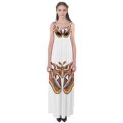 Butterfly Animal Insect Isolated Empire Waist Maxi Dress