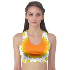 Sun Hot Orange Yrllow Light Sports Bra