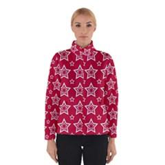 Star Red White Line Space Winterwear